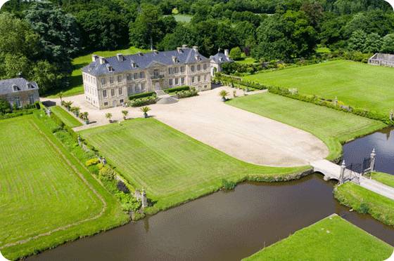 Aerial view of Chateau de Pont-Rilly