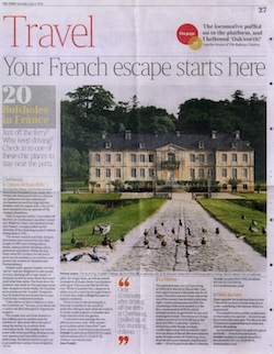 Article dans The Times